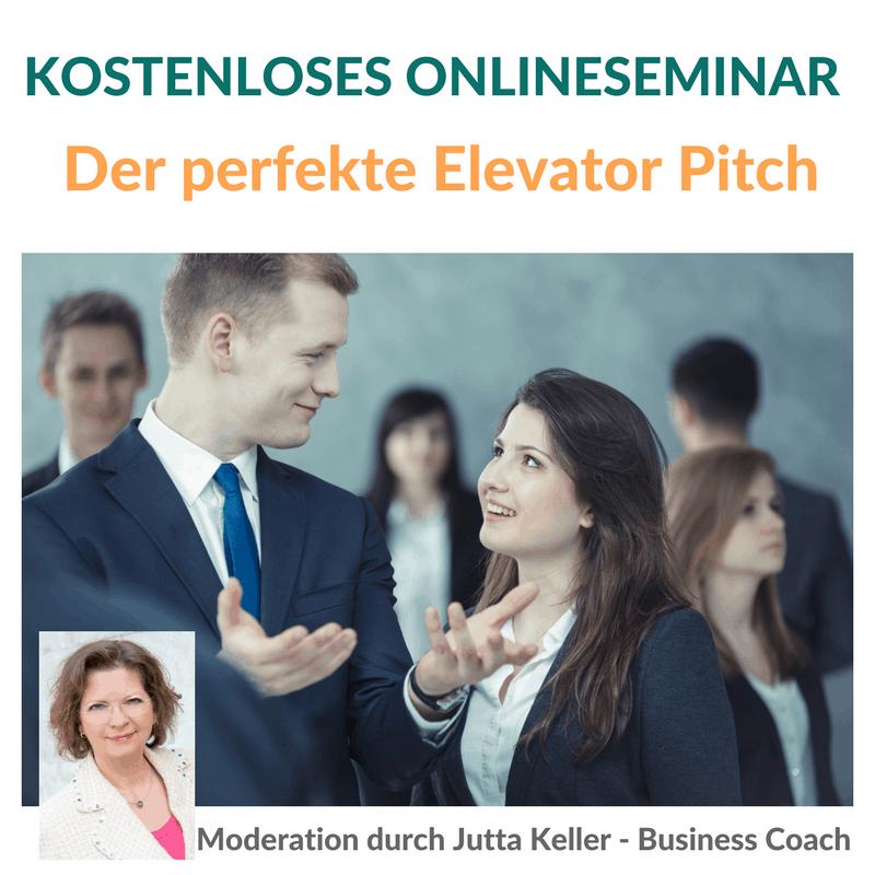 """Jetzt gleich anmelden: Kostenloses Online-Seminar """"Der perfekte Elevator Pitch"""""""
