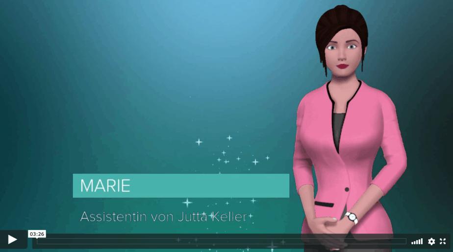 Assistentin Marie über Jutta Keller